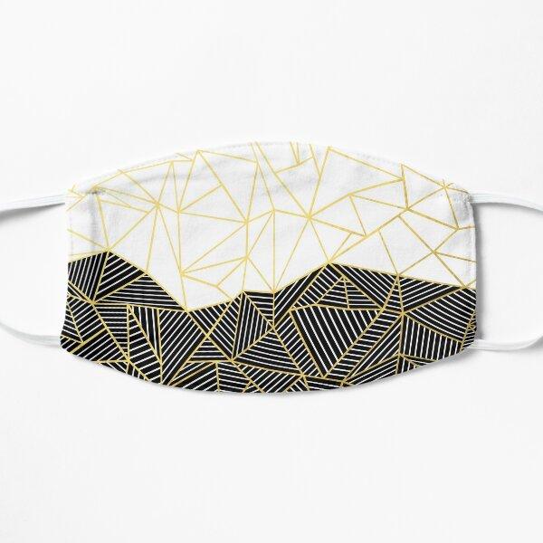 Ab Half and Half White Gold Mask