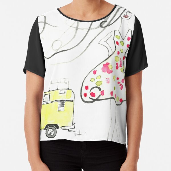 Dream of travel Chiffon Top
