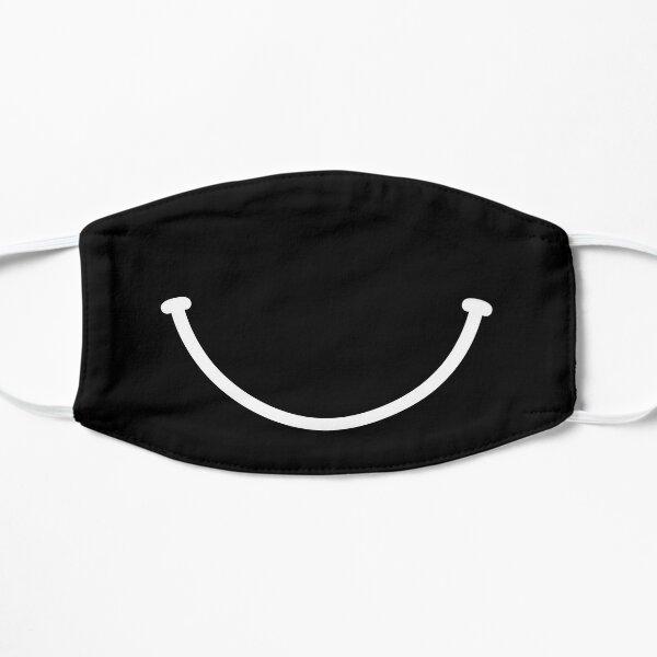 Smile - black and white Flat Mask