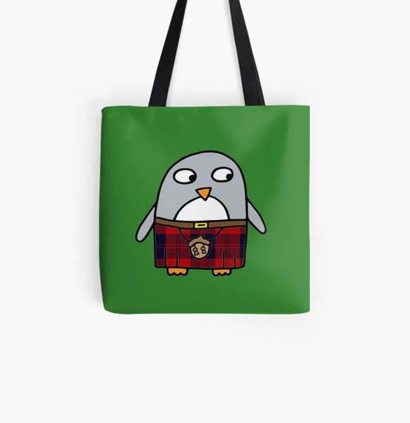 Scottish Kilty Penguin  All Over Print Tote Bag