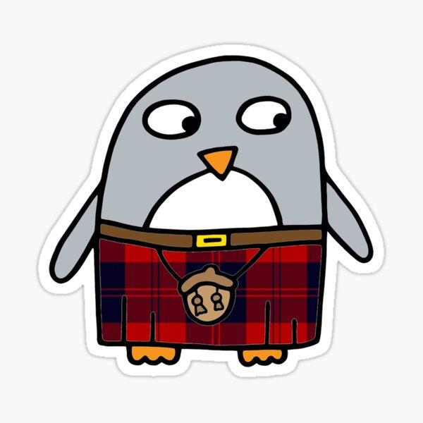 Scottish Kilty Penguin  Sticker