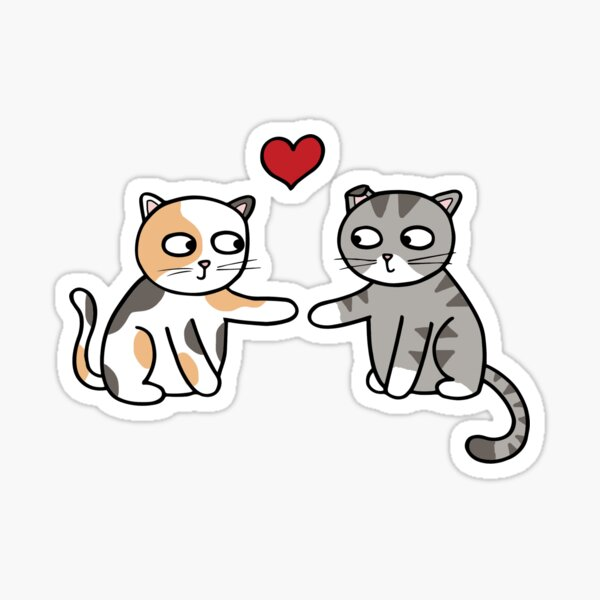 Cats in Love Sticker