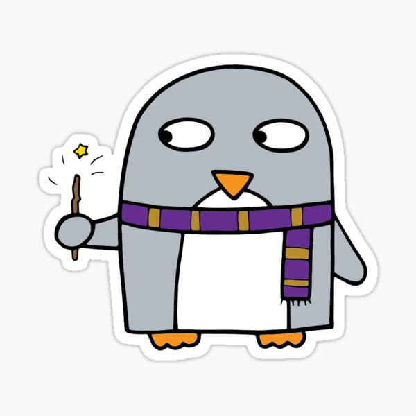Magical wizard penguin Sticker
