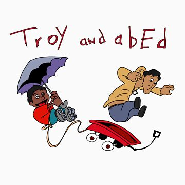 Troy and Abed Falling by justinbysma