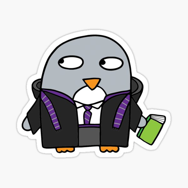Magical reading wizard penguin Sticker