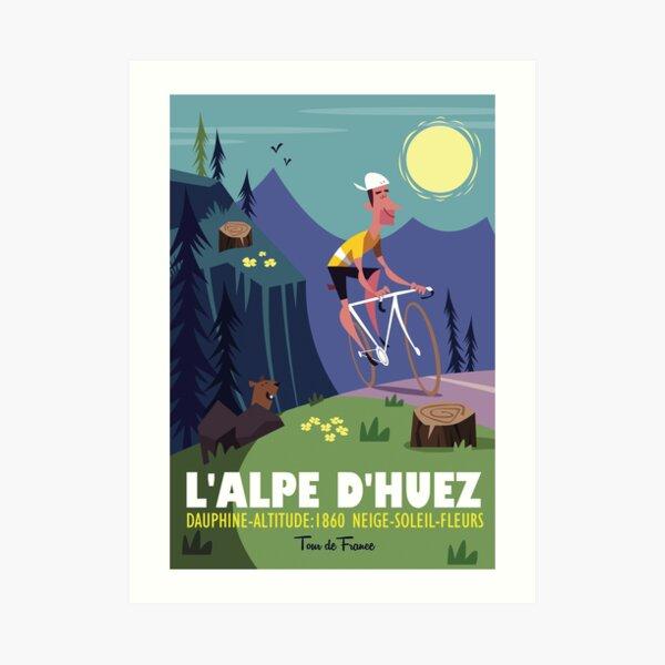 Alpe d'Huez cycling poster Art Print