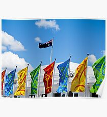 flags in a row Poster