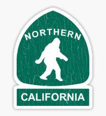 Northern California Bigfoot Sign (vintage look) Sticker