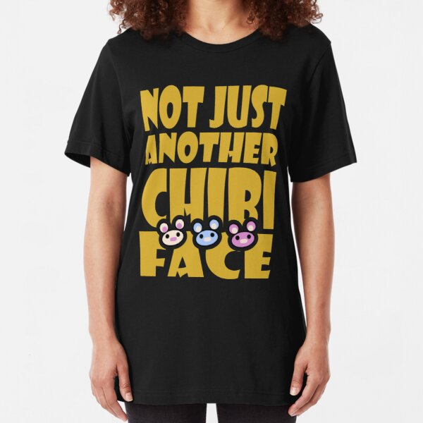 Not Just Another Chibi Face Slim Fit T-Shirt