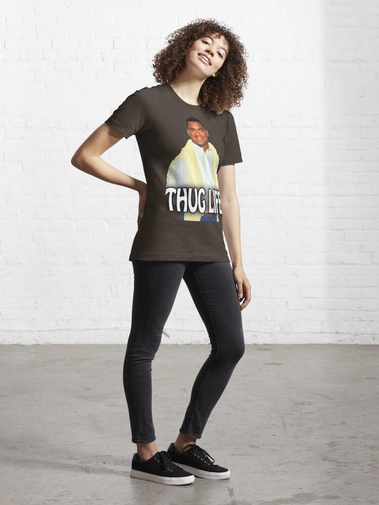Alternate view of Carlton - Thug Life Essential T-Shirt