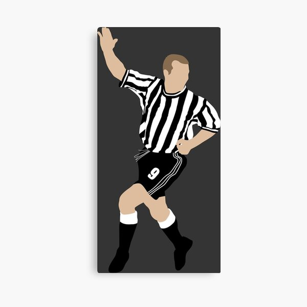 Alan Shearer. Newcastle FC. Canvas Print