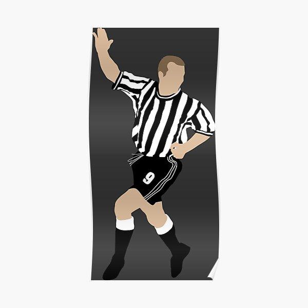 Alan Shearer. Newcastle FC. Poster
