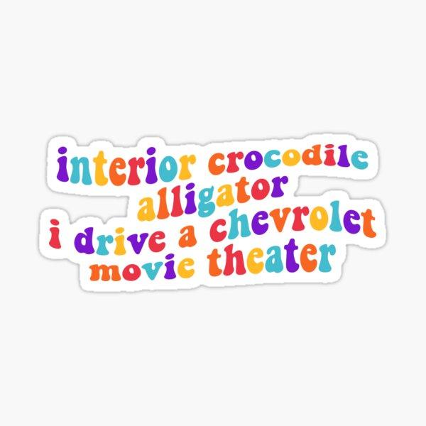 interior crocodile alligator  Sticker