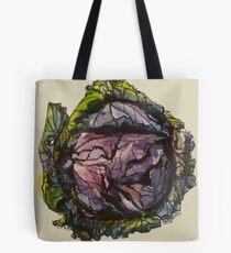 Purple cabbage. Elizabeth Moore Golding 2012Ⓒ Tote Bag