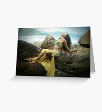 Bellydancer at Camburi, Brazil Greeting Card