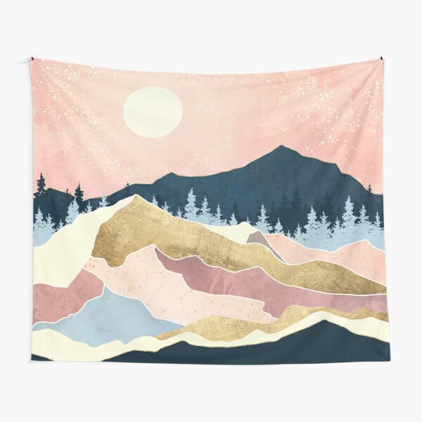 Coral Sunset Tapestry