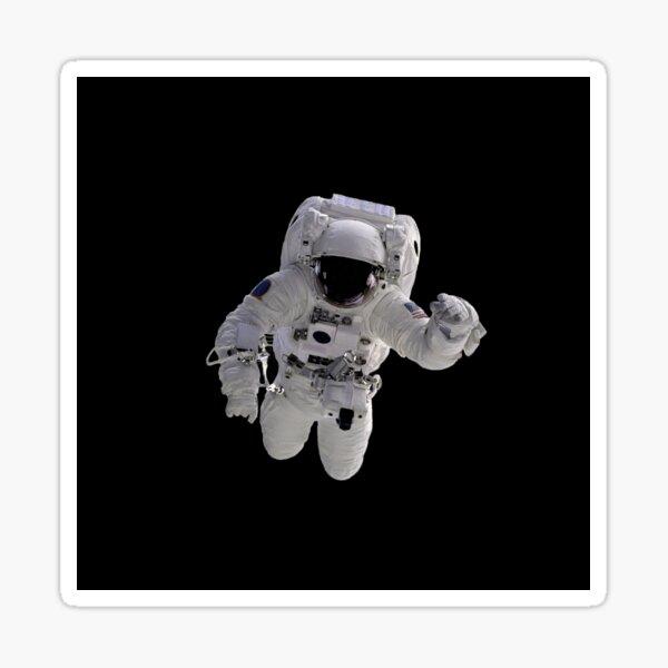 Astronaut on Black Sticker