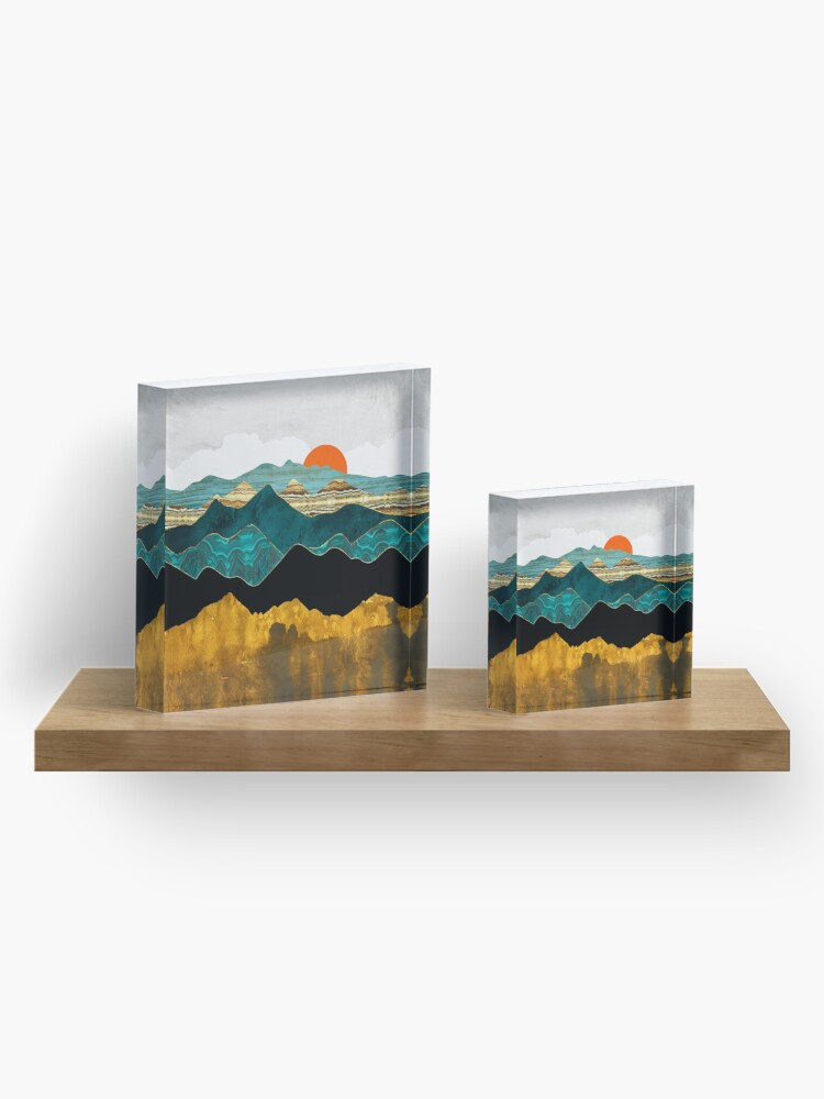 Alternate view of Turquoise Vista Acrylic Block