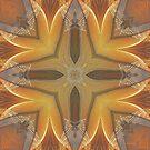 Golden Abstract Energy by Deborah  Benoit