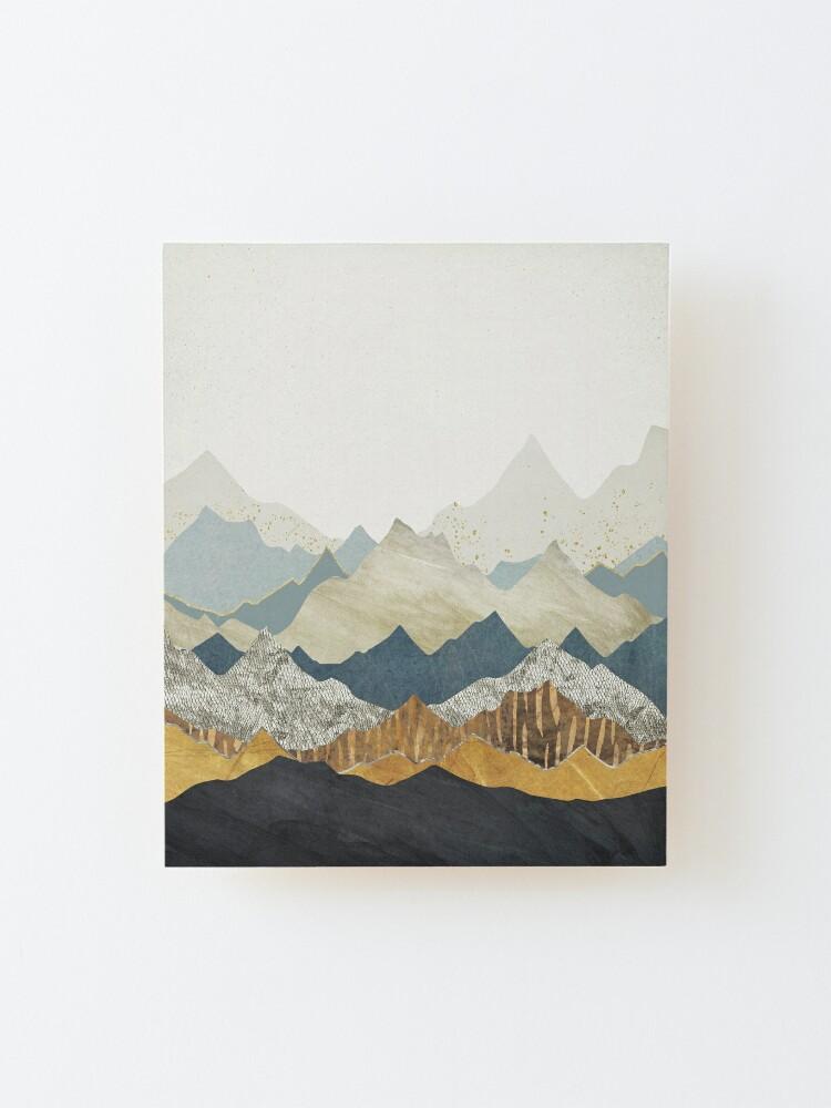 Alternate view of Distant Peaks Mounted Print