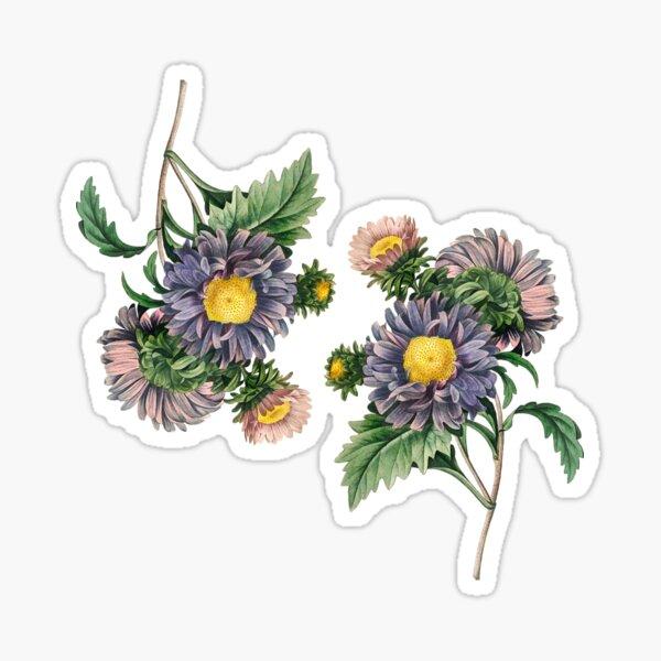 Blue Flower Bouquet Pattern Sticker