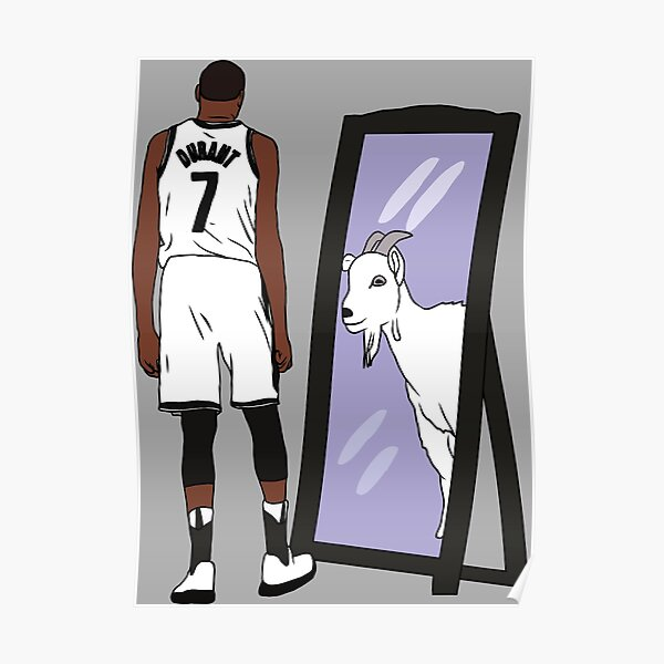 Kevin Durant Mirror GOAT (Nets) Poster