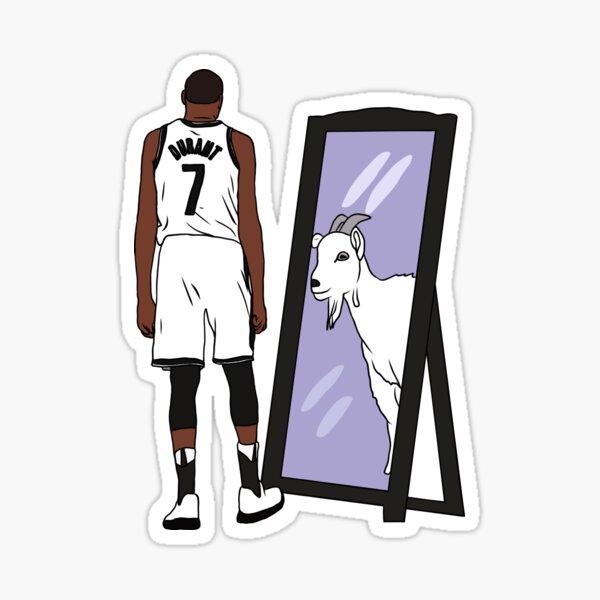 Kevin Durant Mirror GOAT (Nets) Sticker