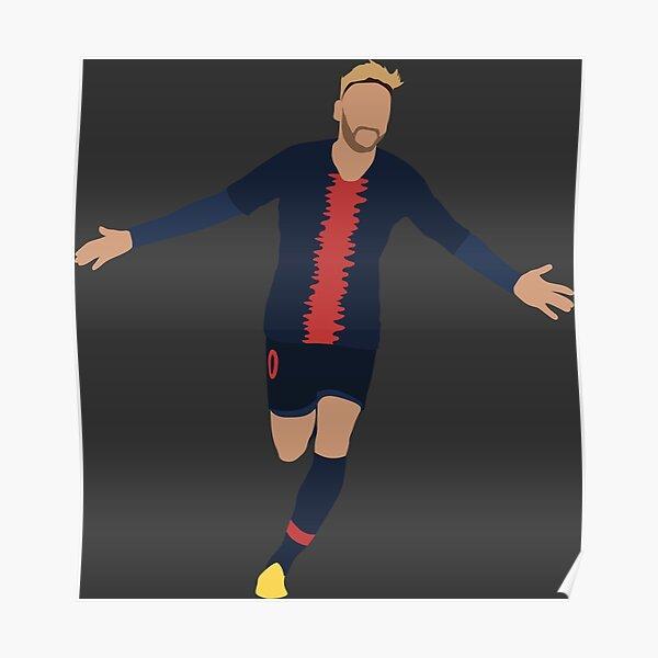 Neymar. Paris Saint-Germain, Football. Poster