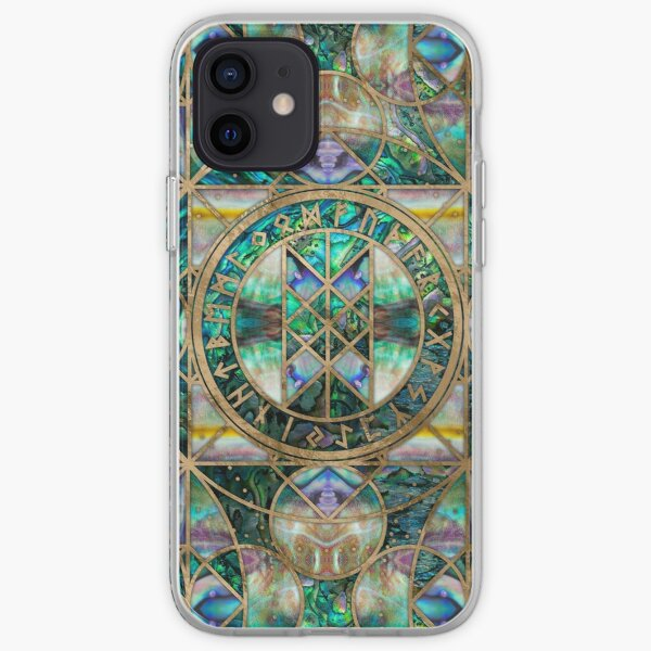 Web of Wyrd The Matrix of Fate -Abalone Shell  iPhone Soft Case