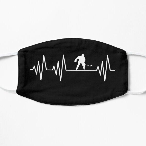 Hockey Ball Heartbeat T-Shirt Hockey Ball Players Hockey Ball lovers Gift Flat Mask