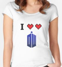I love love Doctor Who Women's Fitted Scoop T-Shirt