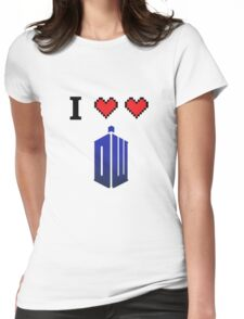 I love love Doctor Who Womens Fitted T-Shirt