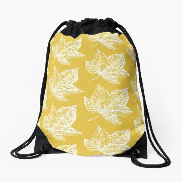 Canadian Leaf Drawstring Bag