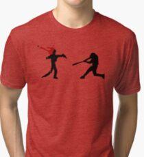 Baseball Versus Zombie Tri-blend T-Shirt