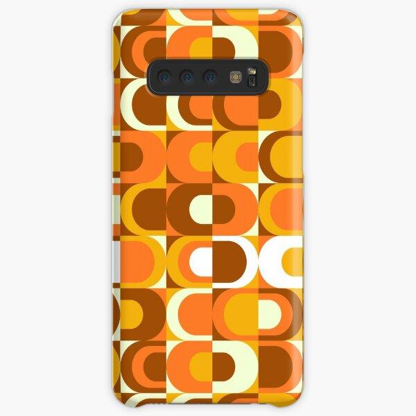 Orange Retro Industrial 70s pattern Samsung Galaxy Snap Case
