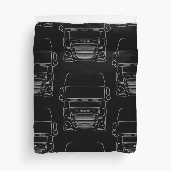 DAF XF series truck outline graphic (white)  Duvet Cover