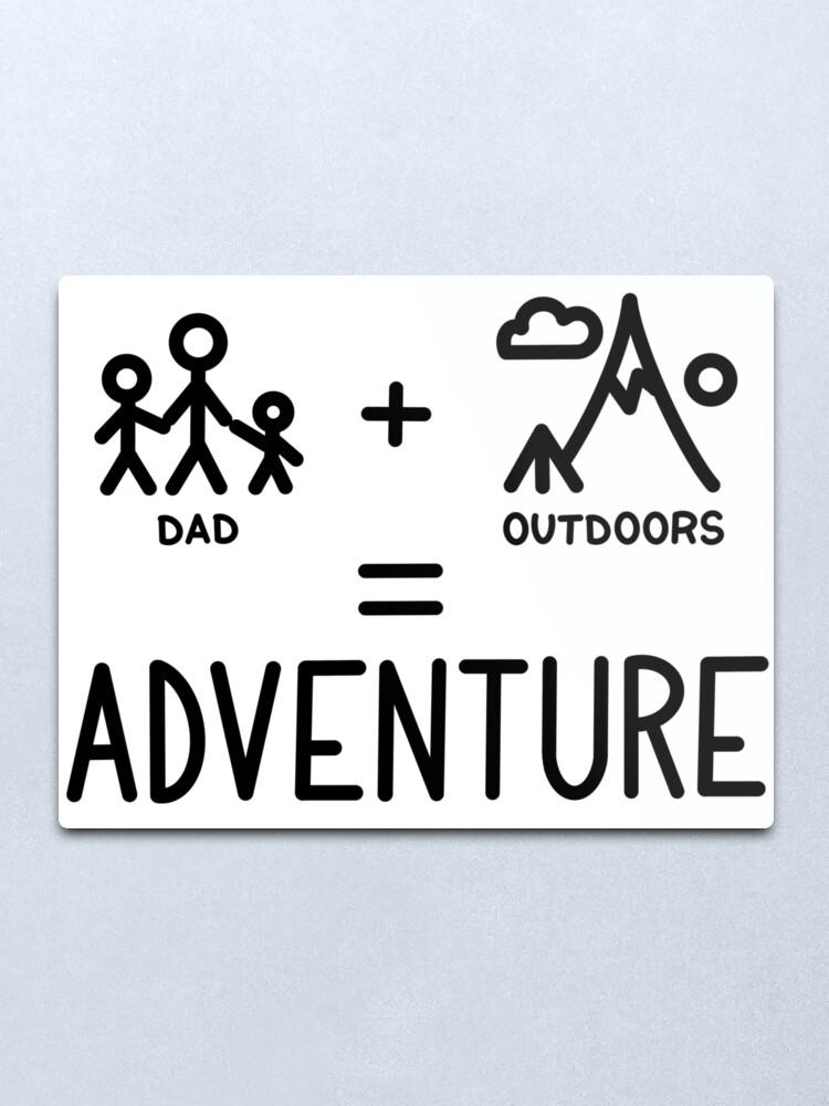 Alternate view of Adventure Dad Metal Print