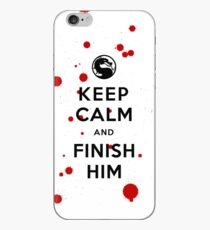 Keep Calm and Finish Him (clean version light colors) iPhone Case