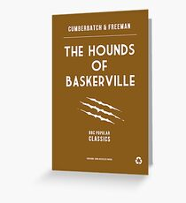 BBC Sherlock - The Hounds of Baskerville Minimalist Greeting Card