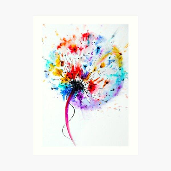 Dandelion in Watercolour Art Print