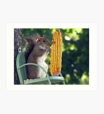 Get your own corn, this ear is MINE! Art Print