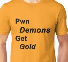 Pwn Demons Get Gold Unisex T-Shirt