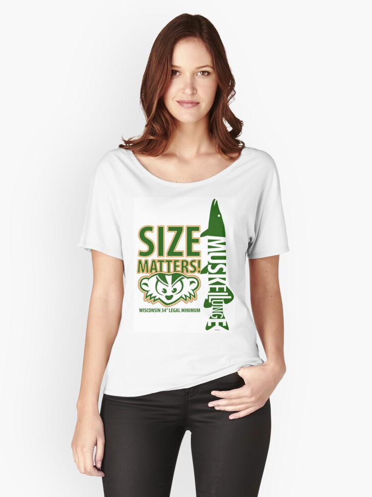 Musky Size Matters Women's Relaxed Fit T-Shirt Front