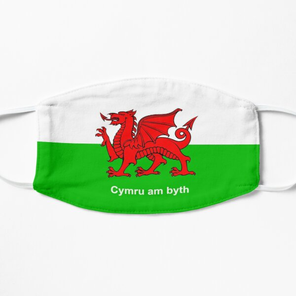 Cymru am byth (Wales For Ever) Wales Welsh Flag Flat Mask