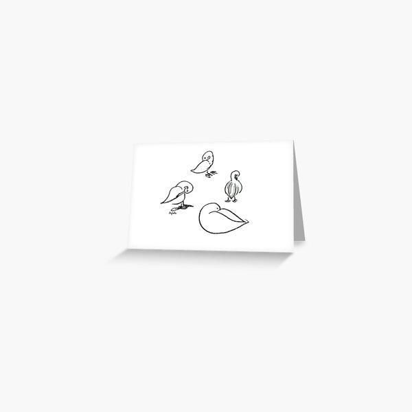 Four ducks Greeting Card