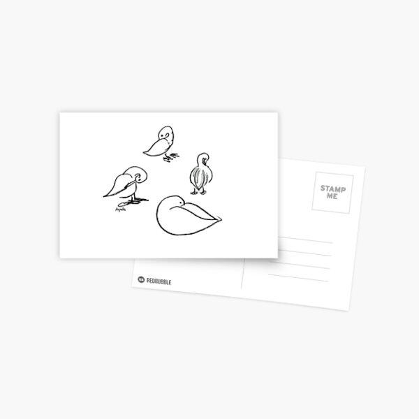Four ducks Postcard