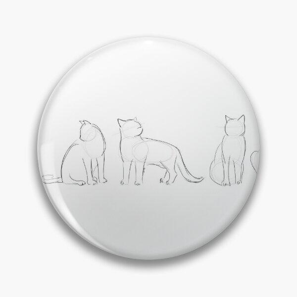 Katzenkonturen Button