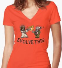 Evolve this!! Women's Fitted V-Neck T-Shirt