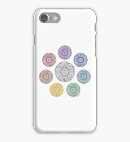 colours of life - chakras iPhone Case/Skin