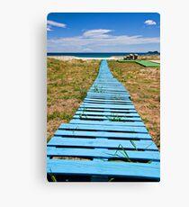 improvised boardwalk Canvas Print